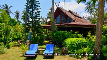 Three bedrooms beachfront villas