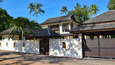 Walled property at Coconut Paradise.