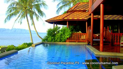 Private pool villa Coconut Paradise P3 at the beachfront.