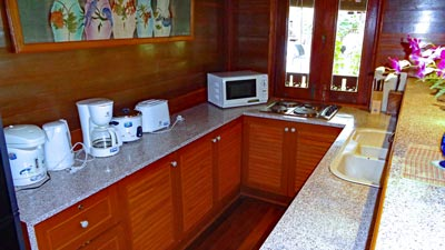 Kitchenette appliances.