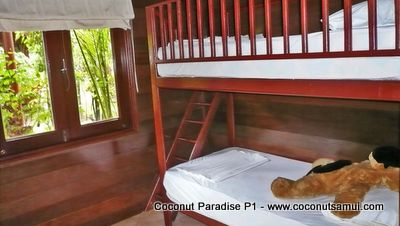 Children's dream: Bunk beds at the fifth bedroom.